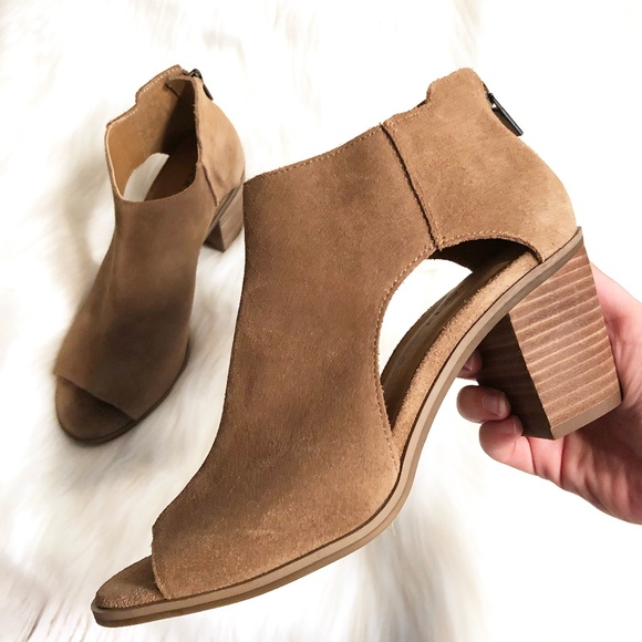New Lucky Brand Keight Suede Cutout